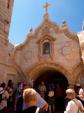 BETHLEHEM, ISRAEL - JULY 12, 2015: The facade of cave of  Milk Grotto chapel Royalty Free Stock Photos