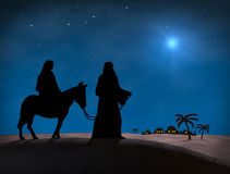 Bethlehem Kerstmis Royalty-vrije Stock Afbeelding