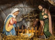Bethlehem. Little jesus with Maria and Joseph in betlehem Royalty Free Stock Photography