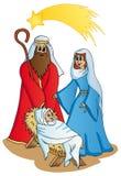 Bethlehem op witte achtergrond Stock Foto