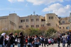 Arabische Studenten (Schüler) auf dem Bruch Lizenzfreie Stockfotografie