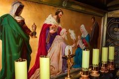 BETHLEHEM, PALÄSTINA - NOVEMBER 2011: Weisen in der Kirche der Geburt Christi Stockfotografie
