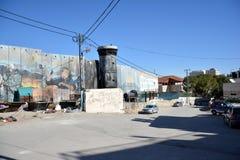 Bethlehem, Palestina 6 de janeiro de 2017 - Aida Refugee Camp In Pa imagem de stock royalty free