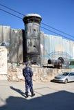 Bethlehem, Palestina 6 de janeiro de 2017 - Aida Refugee Camp In Pa imagem de stock