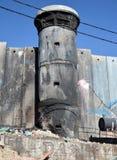 Bethlehem, Palestina 6 de janeiro de 2017 - Aida Refugee Camp In Pa fotografia de stock royalty free