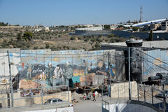 Bethlehem, Palestine. January 6th 2017 - Aida Refugee Camp In Pa Royalty Free Stock Photos