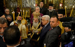 Bethlehem, Palestine. January 7th 2017: Greek Orthodox Patriarch Royalty Free Stock Images