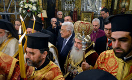 Bethlehem, Palestine. January 7th 2017: Greek Orthodox Patriarch Royalty Free Stock Image