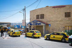 BETHLEHEM. PALESTINE - JUNE 2, 2015: Taxi waiting for tourists in . June 2, 2015 Royalty Free Stock Photos