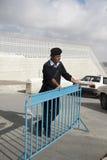 Bethlehem, poliziotto palestinese Immagini Stock Libere da Diritti