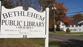 Bethlehem Public Library sign (2 of 2). A view or scene from around town