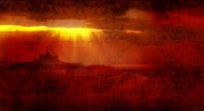 Bethlehem rays across desert Royalty Free Stock Photography