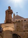 bethlehem stadspalestin Kyrkan av Kristi födelsen av Jesus Chris Royaltyfri Fotografi