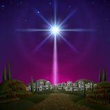 Bethlehem. Star of Bethlehem. EPS 10, contains trasparency, contains mesh Royalty Free Stock Image