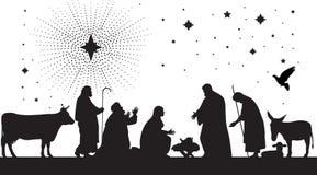 bethlehem stjärna stock illustrationer