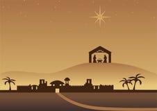 Bethlehem-Weihnachtshintergrund Lizenzfreie Stockfotografie