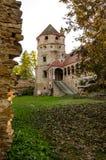 The Bethlen Castle, Cris, Romania. Renovation of an old castle - The Bethlen Castle, built between 14th-17th centuries royalty free stock image