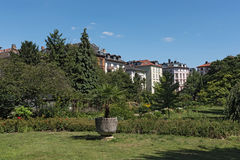 The Bethmannpark in frankfurt am Main, hesse, germany.  Royalty Free Stock Images