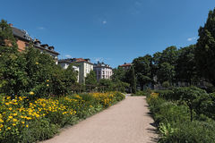 The Bethmannpark in frankfurt am Main, hesse, germany.  Stock Photo