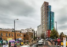 Bethnal Green Road in Shoreditchl, London. royalty free stock photography