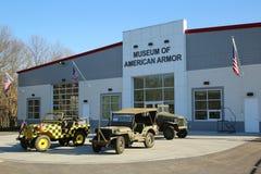BETHPAGE, NEW YORK - 10. APRIL 2016: Das Museum der amerikanischen Rüstung in Bethpage, NY Stockbild