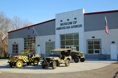 BETHPAGE, NEW YORK - APRIL 10, 2016: The Museum of American Armor in Bethpage, NY Stock Image