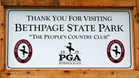 Bethpage-Schwarz-Golfplatz stockbilder