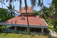 Bethsaida, Kerala, Indien, M?rz, 09, 2019 Ayurvedic-Erholungsort Bethsaida-Einsiedlerei, 4 Sterne, Aufenthaltsraum stockfotos