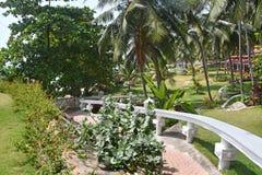Bethsaida, Kerala, Indien, M?rz, 09, 2019 Ayurvedic-Erholungsort Bethsaida-Einsiedlerei, 4 Sterne, Aufenthaltsraum stockfotografie