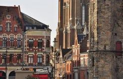 Bethune, France. Art deco and Flemish facades Stock Photos