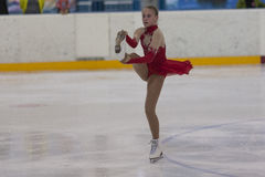 Betina from Belarus performs Silver Class IV Girls Free Skating Program Royalty Free Stock Images