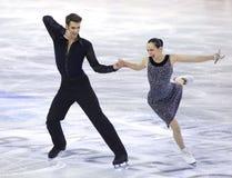 Betina Popova und Yuri Vlasenko von Russland Lizenzfreies Stockbild