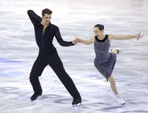 Betina Popova and Yuri Vlasenko from Russia. During Junior Pairs Ice Dance event of ISU Grand Prix of Figure Skating Final 2014 at CCIB on December 11, 2014 in Royalty Free Stock Image