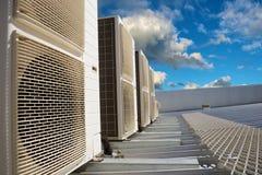 Betingande enheter för HVAC-luft Fotografering för Bildbyråer