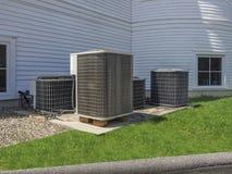 Betingande värmepumpar för luft Fotografering för Bildbyråer