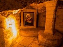 BETLEHEM ISRAEL - JULI 12, 2015: Mjölka grottan i Betlehem Royaltyfria Foton