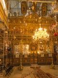 BETLEHEM PA, Israel, Juli 12, 2015: Det rikt dekorerade inter- Royaltyfri Bild