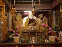 BETLEHEM PA, Israel, Juli 12, 2015: Det rikt dekorerade inter- Royaltyfri Foto