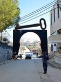 Betlehem Palestina Januari 6th 2017 - Aida Refugee Camp In Pa Arkivbilder