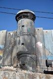 Betlehem Palestina Januari 6th 2017 - Aida Refugee Camp In Pa Arkivfoton