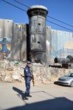 Betlehem Palestina Januari 6th 2017 - Aida Refugee Camp In Pa Royaltyfri Bild