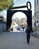 Betlehem Palestina Januari 6th 2017 - Aida Refugee Camp In Pa Royaltyfria Foton