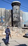 Betlehem Palestina Januari 6th 2017 - Aida Refugee Camp In Pa Royaltyfri Fotografi