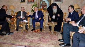 Betlehem Palestina Januari 6th 2017: Grekisk ortodox patriark Royaltyfri Bild