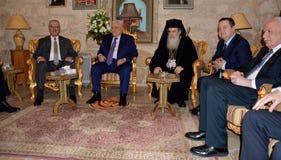 Betlehem Palestina Januari 6th 2017: Grekisk ortodox patriark Royaltyfri Foto