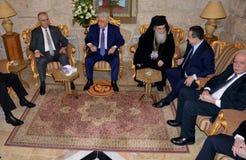 Betlehem Palestina Januari 6th 2017: Grekisk ortodox patriark Royaltyfria Foton