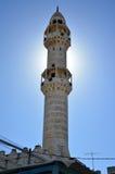 Betlehem Palestina Januari 6th 2017 - minaret av moskén I Arkivbild
