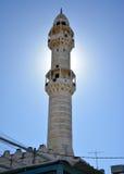 Betlehem Palestina Januari 6th 2017 - minaret av moskén I Arkivfoton