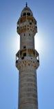 Betlehem Palestina Januari 6th 2017 - minaret av moskén I Royaltyfri Fotografi