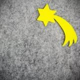Betlehems stjärna på grå bakgrund Arkivfoton